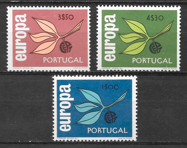 Filatelia Europa Portugal 1965