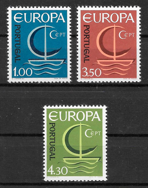 sellos Europa 1966 Portugal