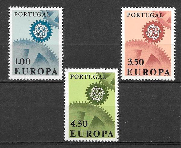 sellos Europa 1967 Portugal