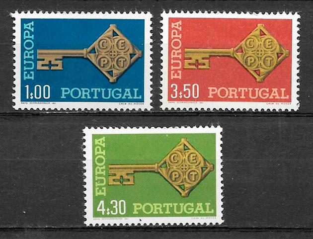 sellos Europa 1968 Portugal