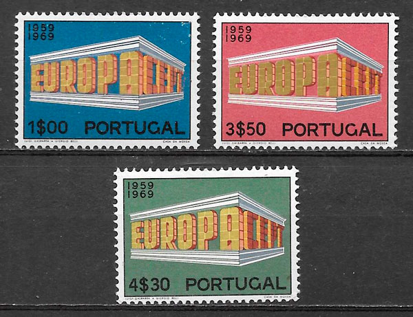 filatelia Europa Portugal 1970