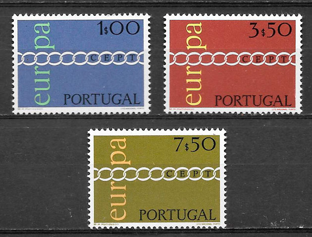 filatelia Europa Portugal 1971