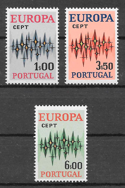 filatelia colección Europa Portugal 1972