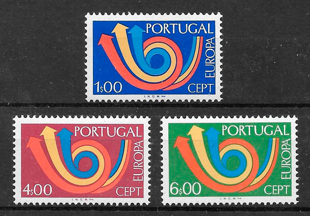 filatelia colección Europa Portugal 1973