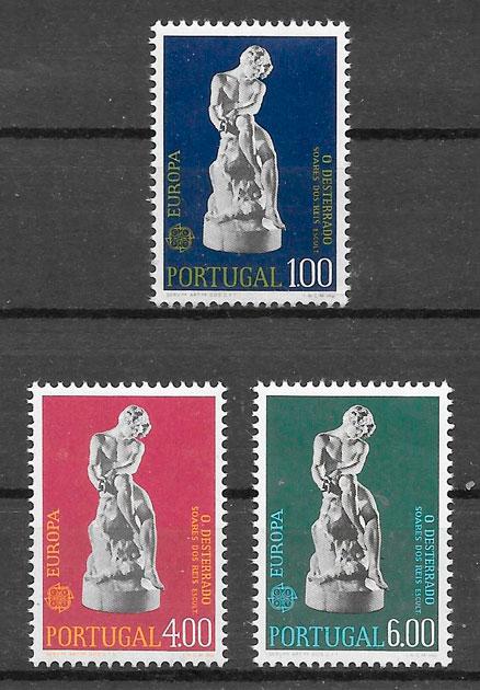 filatelia colección Europa Portugal 1974