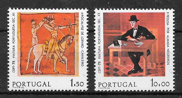 colección sellos Europa Portugal 1975