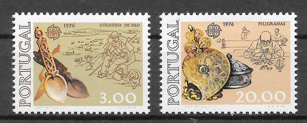 colección sellos Europa Portugal 1976