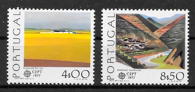 colección sellos Europa Portugal 1977