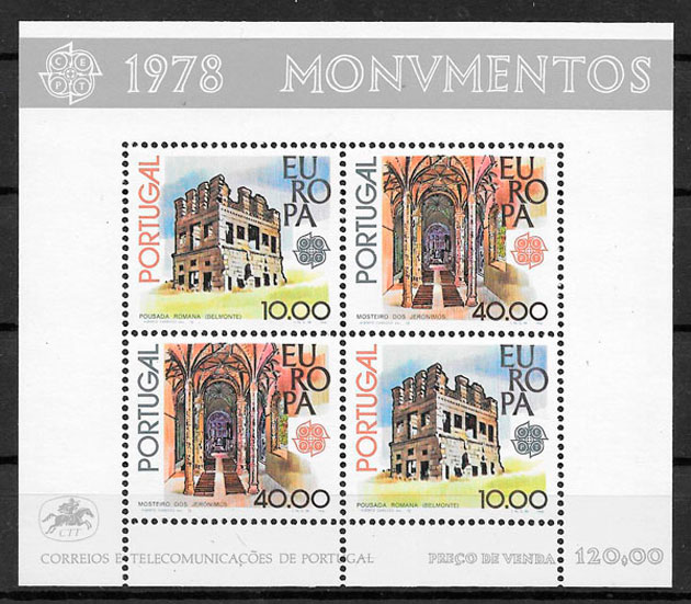 sellos Europa Portugal 1978