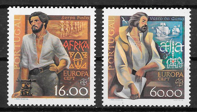 sellos Europa Portugal 1980
