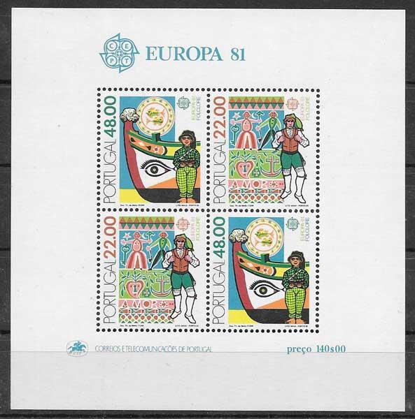 sellos colección Tema Europa Portugal 1981