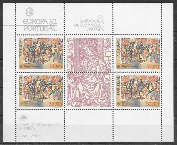 sellos colección Tema Europa 1982 Portugal