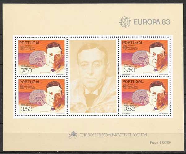 colección filatelia personajes Portugal 1983