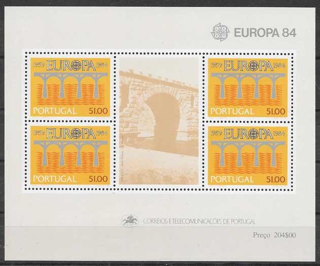 colección filatelia 1984 Tema Europa Portugal