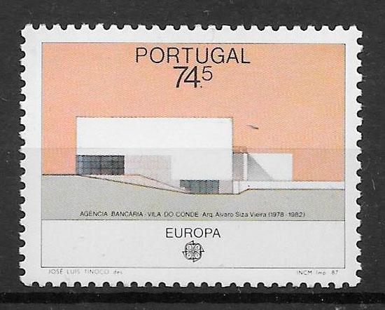 sellos Europa Portugal 1987