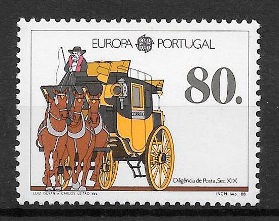 sellos Europa Portugal 1988