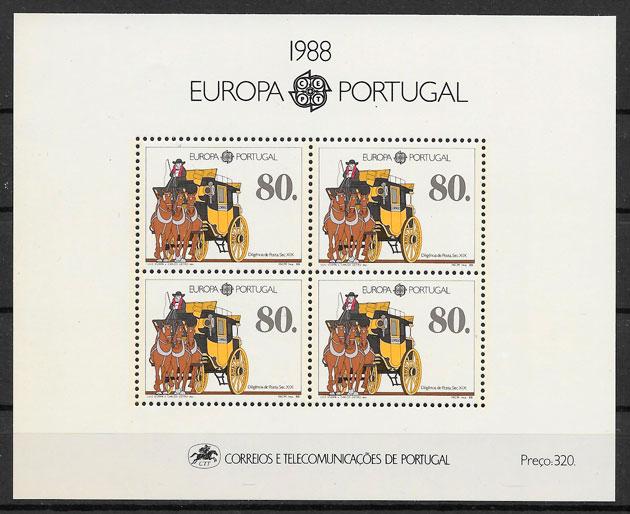 filatelia colección Europa 1988
