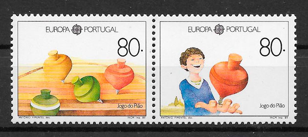 sellos Europa Portugal 1989