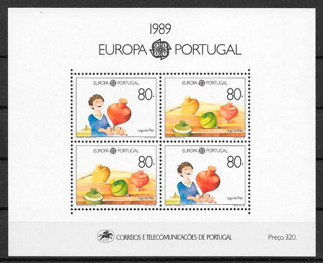 filatelia colección Europa 1989
