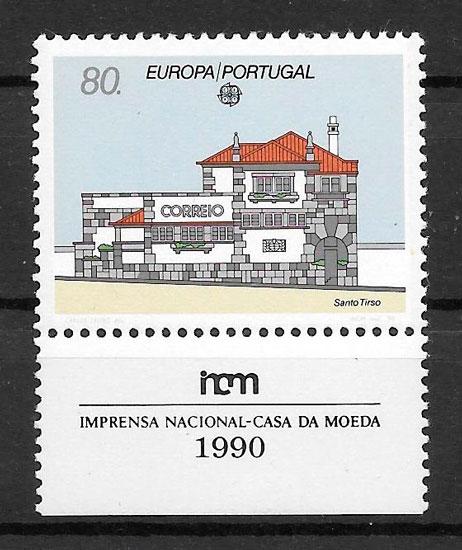 sellos Europa Portugal 1990