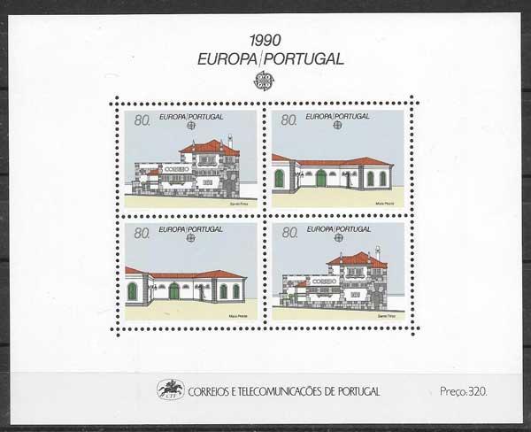 sellos Tema Europa Portugal 1990