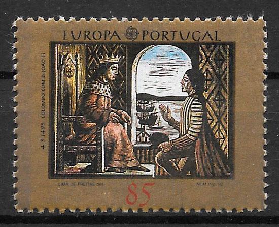 sellos Europa Portugal 1992