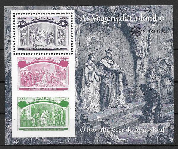 filatelia colección Europa Portugal 1992