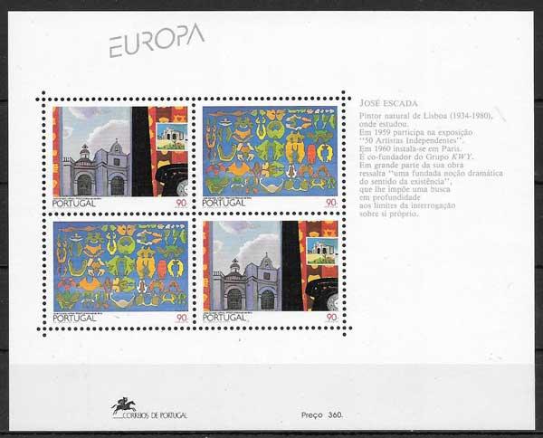 sellos Tema Europa Portugal 1993
