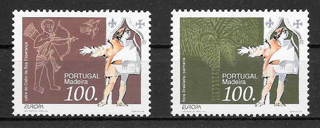 sellos tema Europa Portugal Madeira 1994