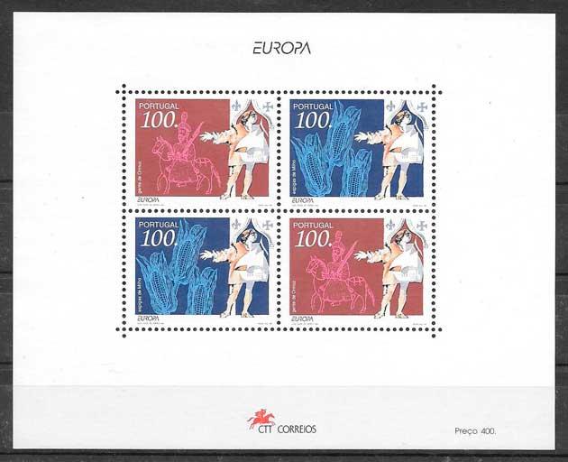 filatelia colección tema Europa Portugal 1994