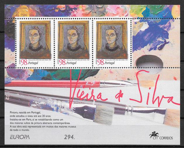 colección sellos Europa 1996 Portugal