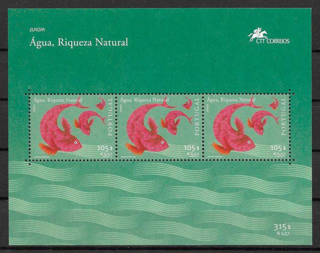 sellos Europa Portugal 2001