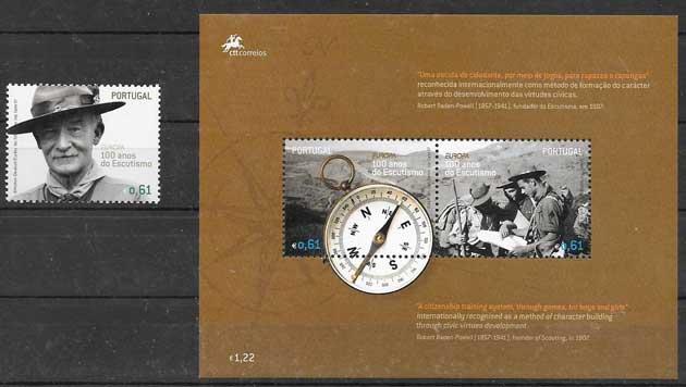 sellos Tema Europa Portugal 2007