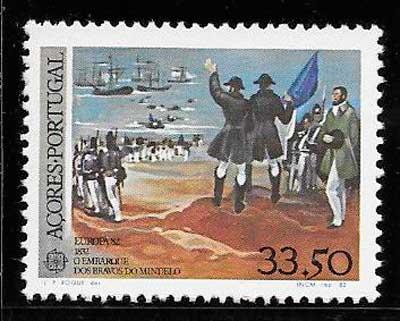 filatelia tema Europa Azores 1982