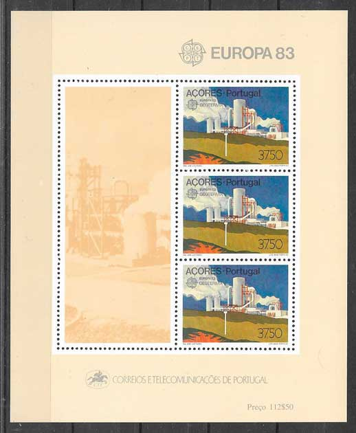 filatelia tema Europa Azores 1983