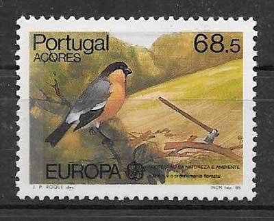 colección sellos tema Europa Azores 1986