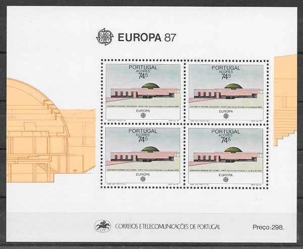 colección sellos tema Europa Azores 1987