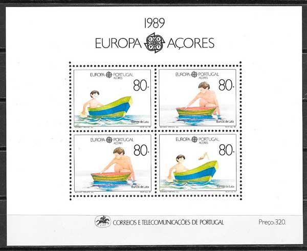 filatelia tema Europa Azores 1989