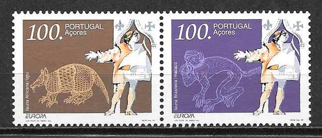 colección sellos tema Europa Azores 1994