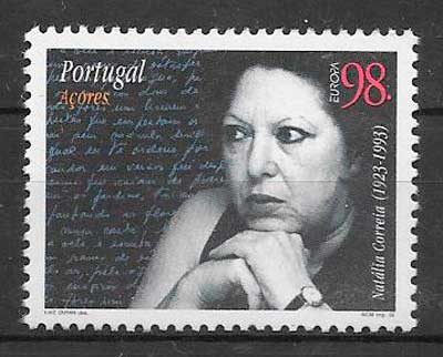 sellos tema Europa Azores 1996