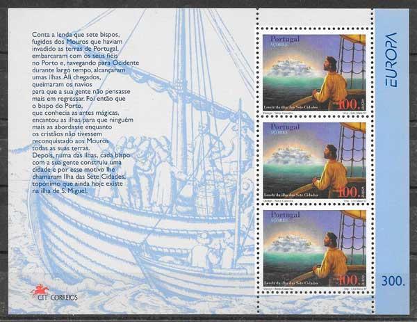 filatelia tema Europa Azores 1997