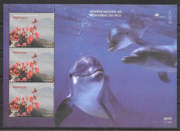 filatelia colección tema Europa Azores 1999
