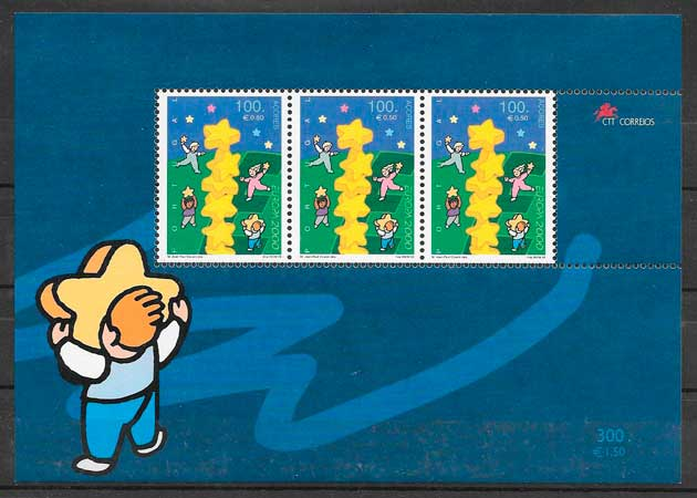 sellos tema Europa Azores 2000