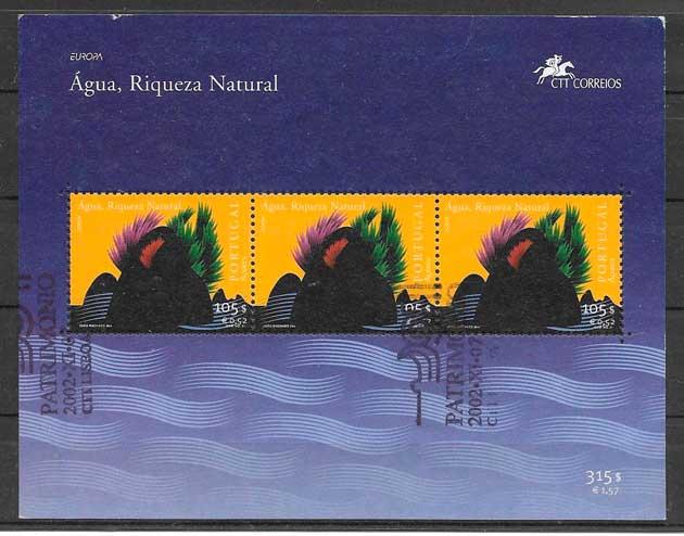filatelia tema Europa Azores 2001