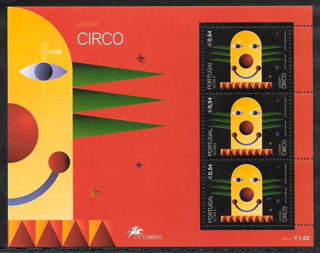filatelia tema Europa Azores 2002