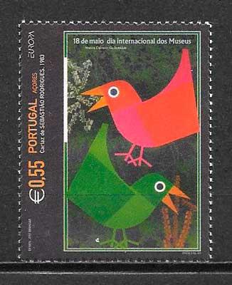 filatelia colección tema Europa 2003 Azores
