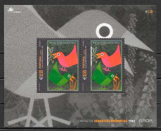 filatelia colección tema Europa Azores 2003