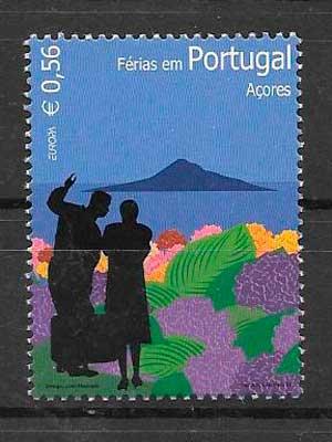 colección sellos tema Europa Azores 2004