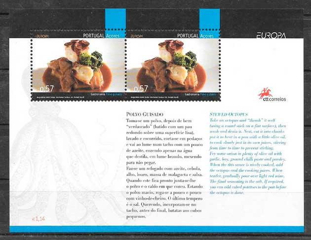 colección sellos tema Europa Azores 2005