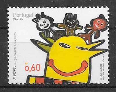 sellos tema Europa 2006 Azores